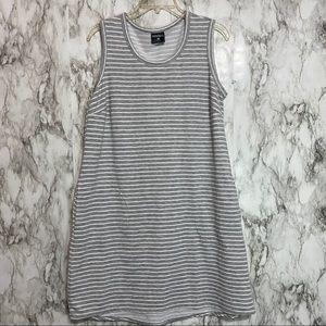 Tank Dress soft sweatshirt material gray & white